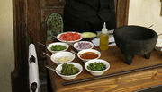 Guacamole being made table side at The Mission