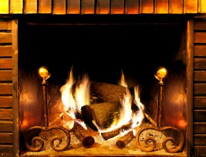 26888405 - close up image of fireplace and wood burning