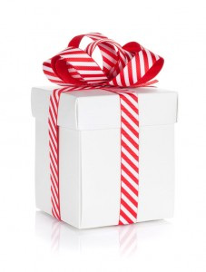 46377173 - christmas gift box. isolated on white background